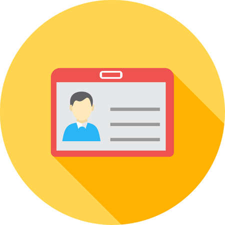 personalize: Identity card, information, account icon vector image.Can also be used for banking, finance, business. Suitable for web apps, mobile apps and print media.