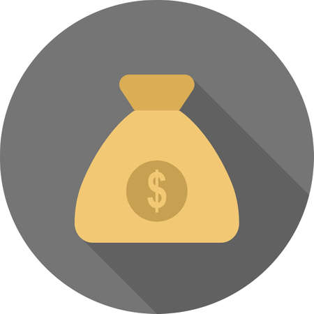 banking and finance: Money bag, currency, sack icon vector image.Can also be used for banking, finance, business. Suitable for web apps, mobile apps and print media.