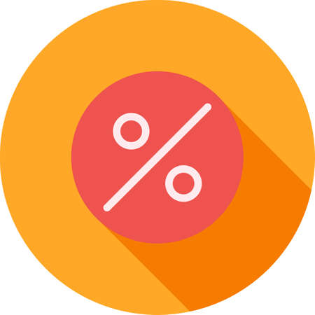 banking and finance: Percentage, portion, fraction icon vector image.Can also be used for banking, finance, business. Suitable for web apps, mobile apps and print media.