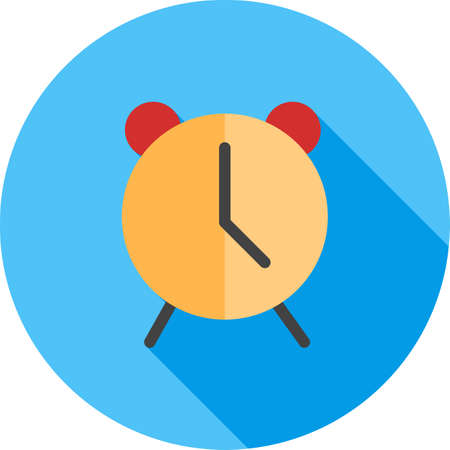 phone time: Alarm, clock, time icon vector image. Can also be used for phone and communication. Suitable for use on web apps, mobile apps and print media. Illustration