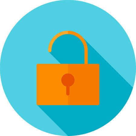 unblock: Unlock, open, security icon vector image. Can also be used for phone and communication. Suitable for use on web apps, mobile apps and print media.