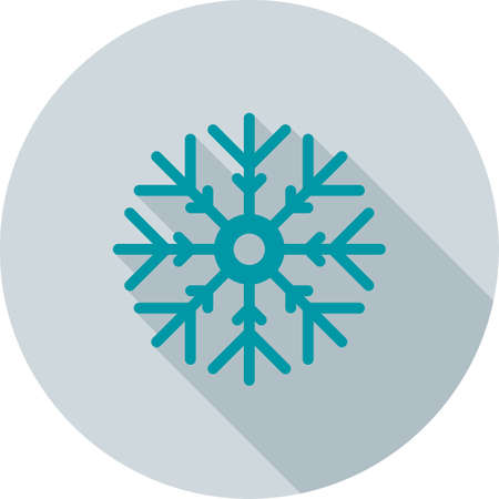 print media: Snowflake, cold, ice icon vector image.Can also be used for christmas, celebrations, observances and holidays. Suitable for use on web apps, mobile apps and print media.