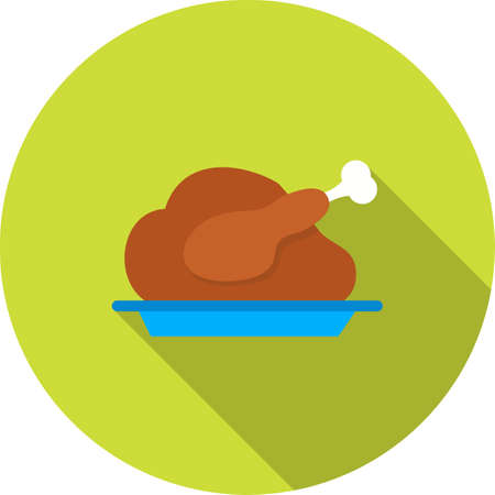 christmas dinner party: Dinner, food, party icon vector image.Can also be used for christmas, celebrations, observances and holidays. Suitable for use on web apps, mobile apps and print media. Illustration
