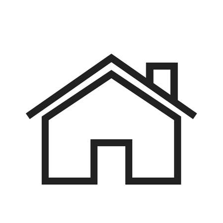 appartment: House, home, estate icon vector image. Can also be used for real estate, property, land and buildings. Suitable for mobile apps, web apps and print media. Illustration