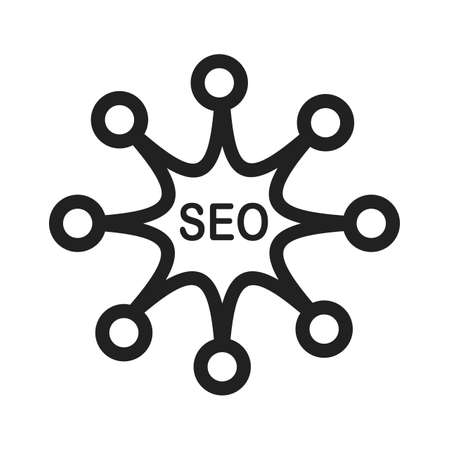 symol: Promotion, search, connected, network icon vector image. Can also be used for SEO, digital marketing, technology. Suitable for web apps, mobile apps and print media.