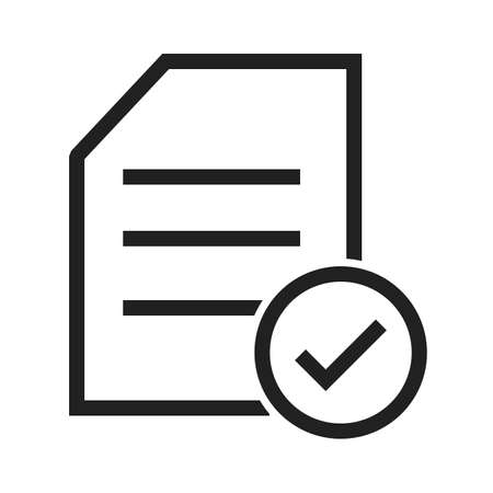 filling folder: Document, survey, checklist, tick icon vector image. Can also be used for SEO, digital marketing, technology. Suitable for web apps, mobile apps and print media. Illustration