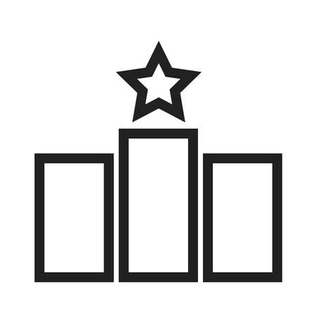 Star, bars, ranking, rating icon vector image. Can also be used for SEO, digital marketing, technology. Suitable for web apps, mobile apps and print media.