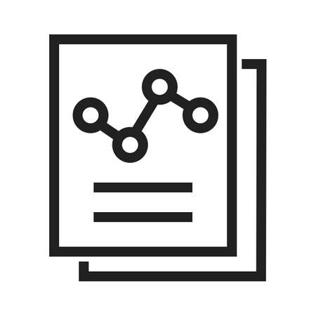 assessments: Documents, statistics, report, file icon vector image. Can also be used for SEO, digital marketing, technology. Suitable for web apps, mobile apps and print media.