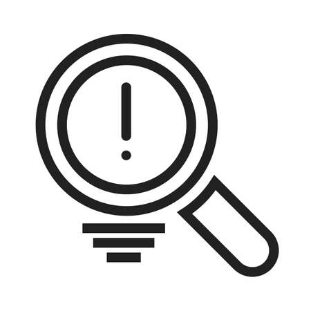 estimation: Magnifier, analysis, digital, find icon vector image. Can also be used for SEO, digital marketing, technology. Suitable for web apps, mobile apps and print media.