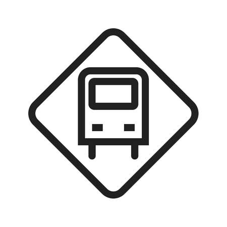 vecotr: Bus, stop, billboard icon vectgor image. Can also be used for transport, transportation and travel. Suitable for mobile apps, web apps and print media.