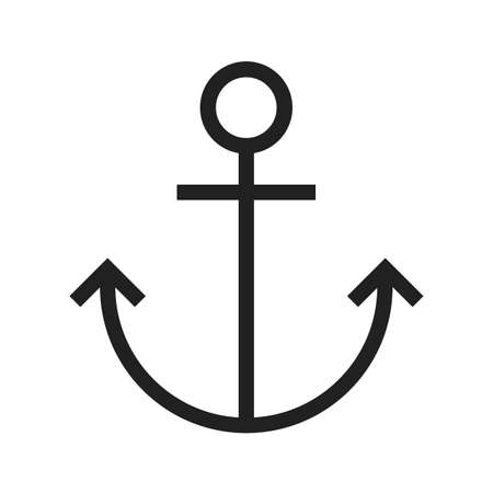 ship anchor: Anchor, ship, metal icon vectgor image. Can also be used for transport, transportation and travel. Suitable for mobile apps, web apps and print media.