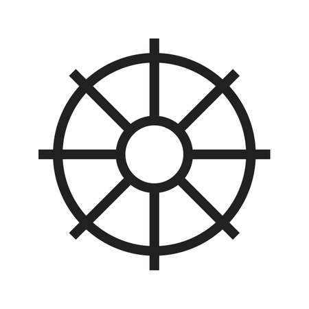 vecotr: Wheel, tyre, ship icon vectgor image. Can also be used for transport, transportation and travel. Suitable for mobile apps, web apps and print media.