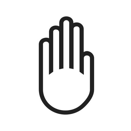 restrictions: Stop, hand, sign icon vectgor image. Can also be used for transport, transportation and travel. Suitable for mobile apps, web apps and print media. Illustration