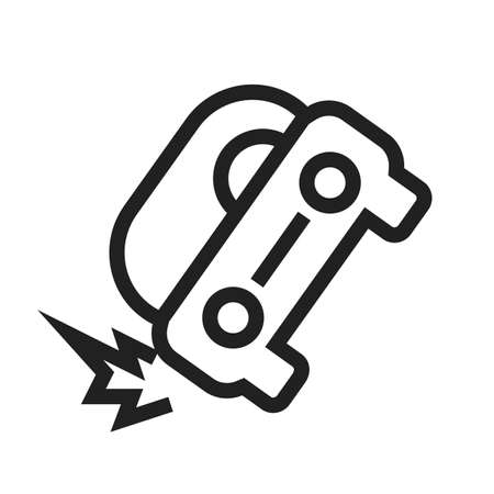 Car, accident, crash icon vectgor image. Can also be used for transport, transportation and travel. Suitable for mobile apps, web apps and print media.