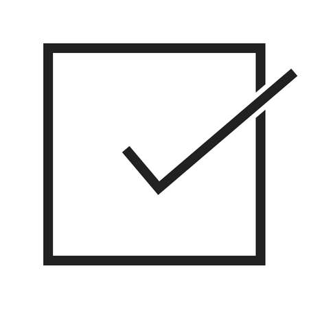 accept icon: Accept, check, check mark, checklist icon vector image. Can also be used for education, academics and science. Suitable for use on web apps, mobile apps, and print media.