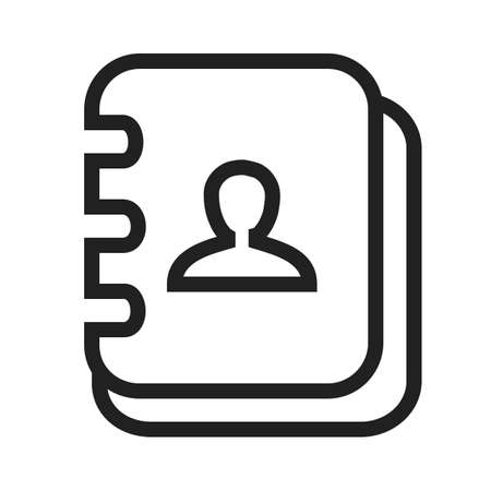 directory book: Book, address, pen icon vector image. Can also be used for business, finance and accounts. Suitable for web apps, mobile apps and print media.