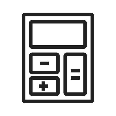accounts: Calculator, count, electronic icon vector image. Can also be used for business, finance and accounts. Suitable for web apps, mobile apps and print media.