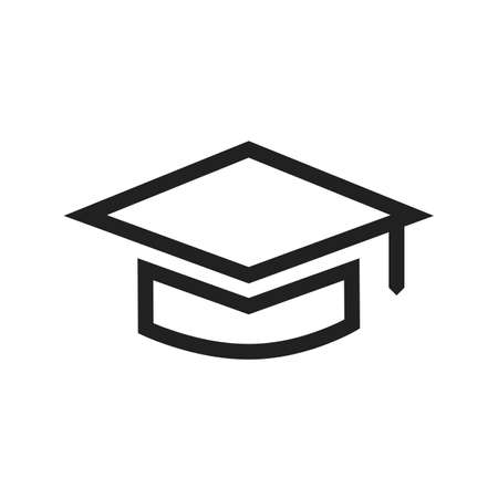 gatherings: Graduation, hat, celebration icon vector image. Can also be used for education, academics and science. Suitable for use on web apps, mobile apps, and print media.