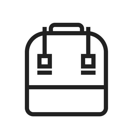 case studies: Bag, school bag, books icon vector image. Can also be used for education, academics and science. Suitable for use on web apps, mobile apps, and print media.