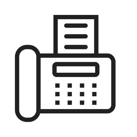 faxing: Fax machine, reciept, telephone, icon vector image.Can also be used for banking, finance, business. Suitable for web apps, mobile apps and print media.