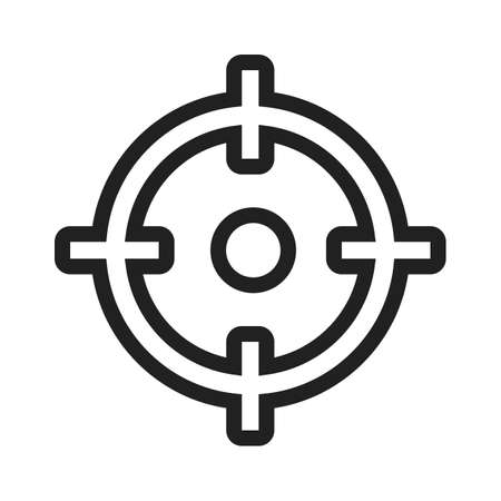 symol: Target, market, aim icon vector image. Can also be used for SEO, digital marketing, technology. Suitable for web apps, mobile apps and print media.