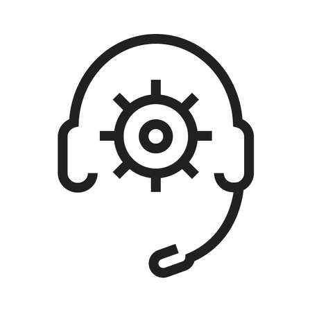 support agent: Headphones, support, technical, agent icon vector image. Can also be used for SEO, digital marketing, technology. Suitable for web apps, mobile apps and print media.