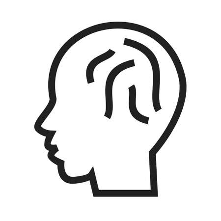 hardwork: Human brain, internet, knowledge, intelligence icon vector image. Can also be used for SEO, digital marketing, technology. Suitable for web apps, mobile apps and print media.