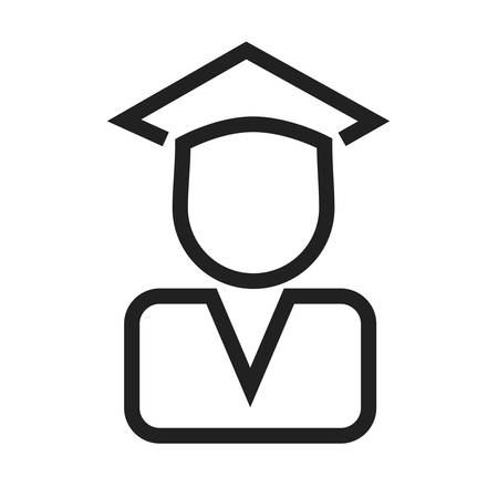 convocation: Certificate, diploma, convocation, degree icon vector image. Can also be used for education, academics and science. Suitable for use on web apps, mobile apps, and print media.