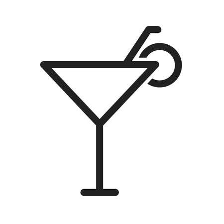 rinfreschi: Cocktail, bevanda, immagine icona del vettore di vetro. Pu� essere utilizzato anche per l'estate, svago e divertimento. Adatto per l'uso su applicazioni mobili, applicazioni web e supporti di stampa. Vettoriali
