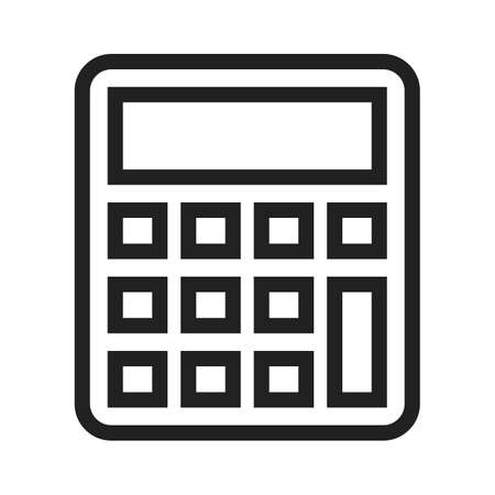 calculating: Calculator, mathematics, device icon vector image.Can also be used for banking, finance, business. Suitable for web apps, mobile apps and print media.