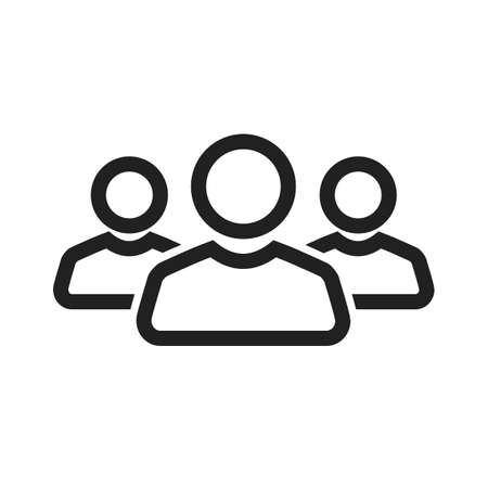 group icon: Team, people, users icon vector image.Can also be used for banking, finance, business. Suitable for web apps, mobile apps and print media.
