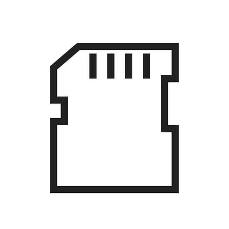 sd: SD card, memory card, card icon vector image. Can also be used for computer and hardware. Suitable for use on web apps, mobile apps and print media.