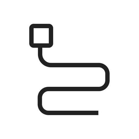 ethernet cable: Cable, cord, wire icon vector image. Can also be used for computer and hardware. Suitable for use on web apps, mobile apps and print media.