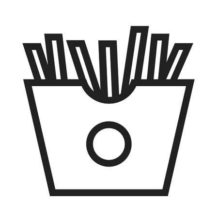 salty: Fries, snack, potato icon vector image. Can also be used for eatables, food and drinks. Suitable for use on web apps, mobile apps and print media
