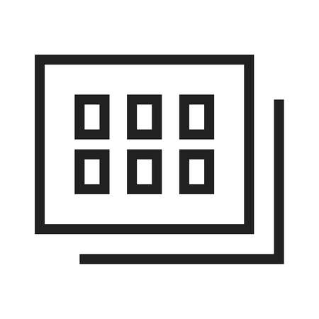 snaps: Gallery, images, photo icon vector image.Can also be used for admin dashboard. Suitable for mobile apps, web apps and print media.