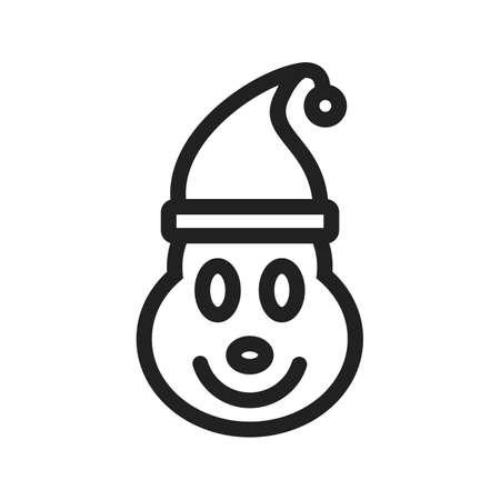 elf christmas: Elf, navidad, icono partido vector tambi�n image.Can ser utilizado para la Navidad, fiestas, celebraciones y fiestas. Adecuado para su uso en aplicaciones web, aplicaciones m�viles y material de impresi�n. Vectores