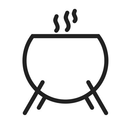 slimy: Cauldron, scary, fear icon vector image.Can also be used for halloween, celebration, observances and holidays. Suitable for mobile apps, web apps and print media. Illustration