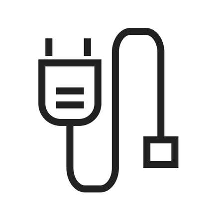 hdmi: Power cable, HDMI, computer icon vector image. Can also be used for computer and hardware. Suitable for use on web apps, mobile apps and print media. Illustration