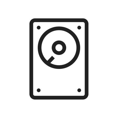 hdd: Hard disk, drive, hdd icon vector image. Can also be used for computer and hardware. Suitable for use on web apps, mobile apps and print media.