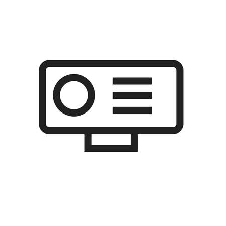 hd video: Camera, video, hd icon vector image. Can also be used for computer and hardware. Suitable for use on web apps, mobile apps and print media. Illustration