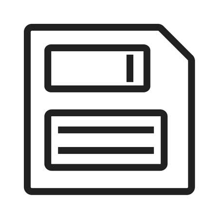 floppy drive: Save, memory, computer icon vector image. Can also be used for computer hardware, computer network and connection. Suitable for use on web apps, mobile apps and print media.