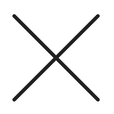 キャンセル、クロス、アイコンのベクトル画像を閉じます。コンピューター ハードウェア、ネットワークとの接続にも使用できます。Web アプリ、携  イラスト・ベクター素材