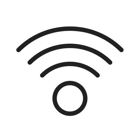 wireless connection: Wifi, wireless, internet icon vector image. Can also be used for computer hardware, computer network and connection. Suitable for use on web apps, mobile apps and print media.