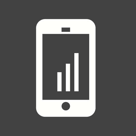 mobile apps: Mobile, device, statistics, graph icon vector image. Can also be used for seo, digital marketing, technology. Suitable for use on web apps, mobile apps and print media.