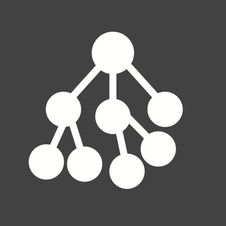 converting: Nodes, network, connected, hierarchy icon vector image. Can also be used for seo, digital marketing, technology. Suitable for use on web apps, mobile apps and print media.