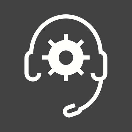 support agent: Headphones, support, technical, agent icon vector image. Can also be used for seo, digital marketing, technology. Suitable for use on web apps, mobile apps and print media.