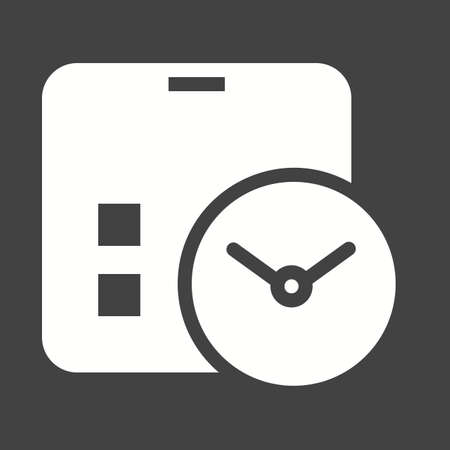 event planning: Calendar, clock, event, schedule icon vector image. Can also be used for seo, digital marketing, technology. Suitable for use on web apps, mobile apps and print media.
