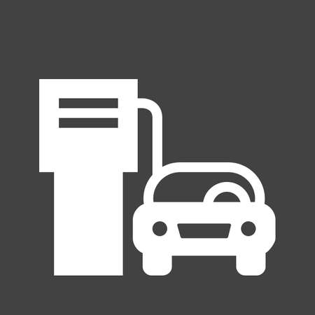 refuel: Gas station, fuel, pump icon vectgor image. Can also be used for transport, transportation and travel. Suitable for mobile apps, web apps and print media.