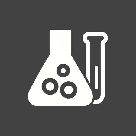 chemical reaction: Chemistry, scientific, analysis, chemical reaction icon vector image. Can also be used for education, academics and science. Suitable for use on web apps, mobile apps and print media.