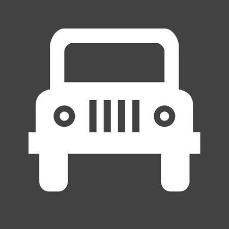Wangler, auto, pictogram voertuig vectgor. Kan ook worden gebruikt voor transport, vervoer en reizen. Geschikt voor mobiele apps, web apps en gedrukte media.